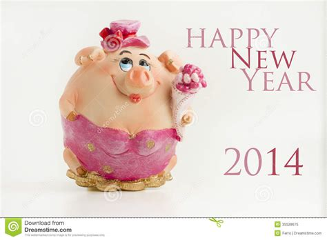 new year for the pig royalty free stock photo happy new year 2014 pig image
