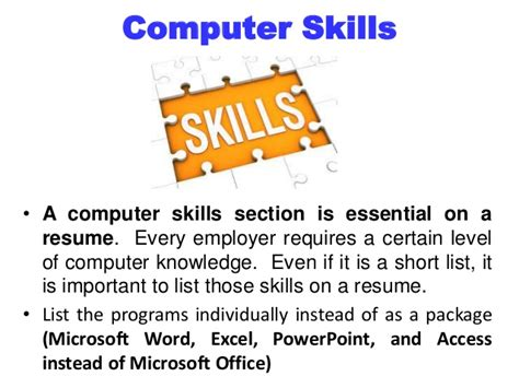 important computer skills for resume 28 images listing computer skills on resume 019 resume