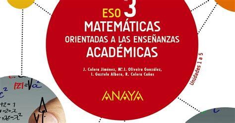 matemticas orientadas a las soluciones de sm y anaya soluciones libro anaya matem 225 ticas orientadas a las ense 241 anzas