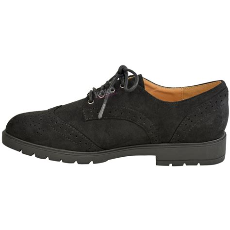 flat work shoes womens flat brogues lace up pumps school work