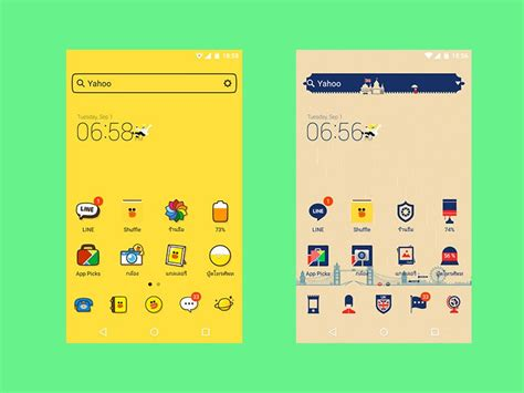 change theme line android ว ธ เปล ยนธ มใน line launcher android