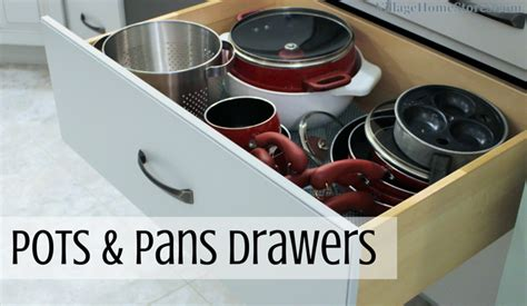 pots and pans drawer size pots and pans storage archives village home stores