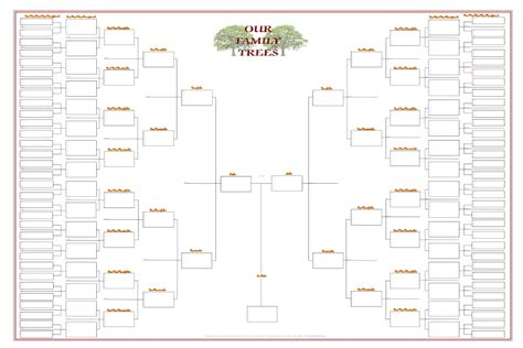 7 generation family tree template free best photos of blank family tree chart template large