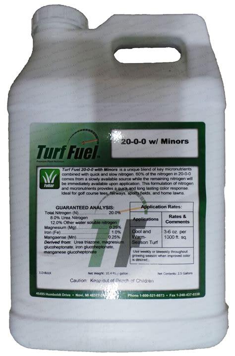 Mba Fertilizer 0 2 5 by Turf Fuel 20 0 0 W Minors Fuel Liquid Turf Fertilizer 2