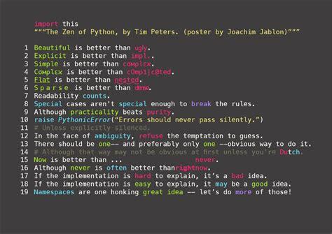 unity tutorial c pdf zen of python poster by ewjoachim on deviantart