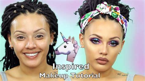 Tutorial Eyeshadow Viva unicorn inspired makeup tutorial viva glam kay