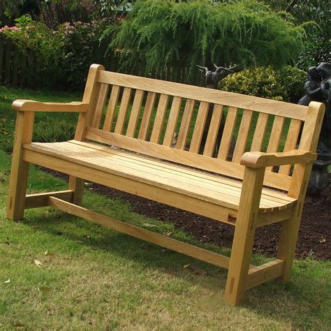 Wooden Bench For Garden Hardwood Garden Bench Idigbo The Wooden Workshop