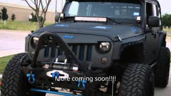custom lifted jeep black on blue