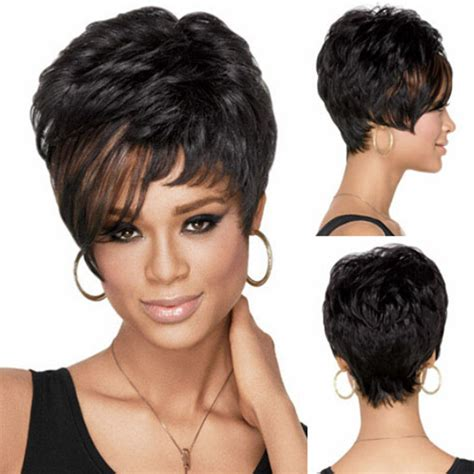 cutting back of halle berry wig ladies sexy short synthetic pixie boy cut halle berry