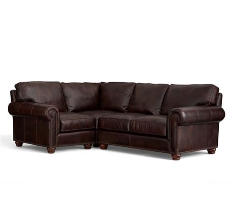 pottery barn 3 piece sectional webster leather 3 piece sectional with corner pottery barn