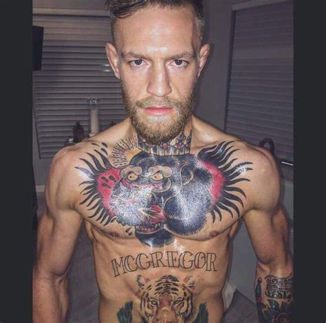 conor mcgregor tattoo ufc mega conor mcgregor demanding pictures