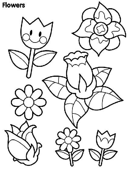 spring flowers coloring page crayola com
