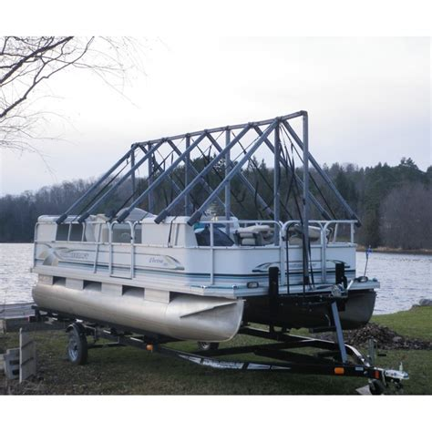 pontoon boat cover winter cover for pontoon 19 22 189 ft with tarp 19x32