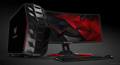 Laptop Acer Predator G6 acer predator g6 710 gaming desktop with up to 64gb ddr4 ram 12tb storage and ultra hd 4k