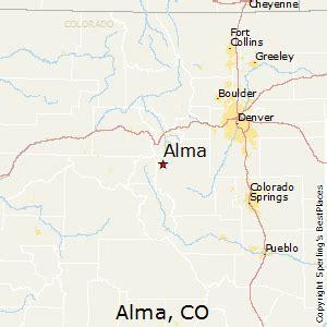 alma colorado map best places to live in alma colorado