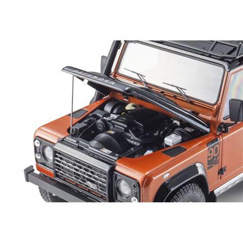 Land Rover Defender 90 Autobiography Corrisgrey Santorini Black Kyosho land rover defender 90 adventure orange 1 18 scale kyosho