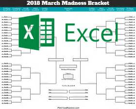excel bracket template excel template ncaa march madness bracket 2018