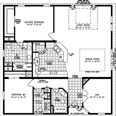 1600 sq foot house plans the tnr 7401 manufactured home floor plan jacobsen