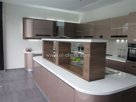 curved kitchen cabinets modern high technology curved kitchen cabinet in gray lacquer kc 1100