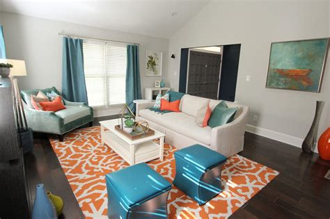 gray teal living room orange teal grey living room modern house