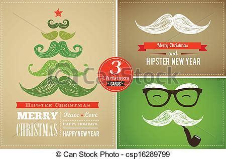 imagenes hipster navidad eps vectores de tarjetas hipster saludo alegre navidad