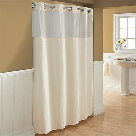 cream shower curtain hookless 174 waffle fabric shower curtain and liner set in