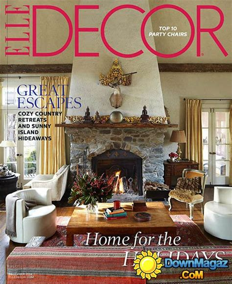 home decor magazines usa elle decor usa december 2014 187 download pdf magazines