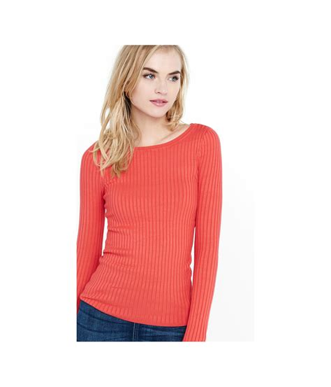 Jaket Sweater Sour express sour cherry crew neck wide ribbed sweater in
