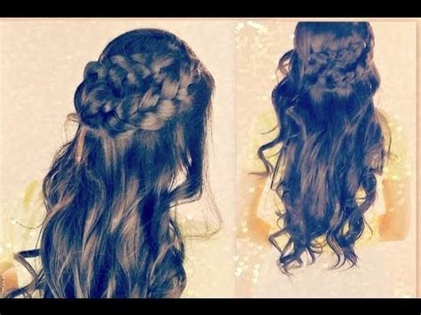 spring curlyhaired tutorial boho spring long hairstyles easy curly half updo wrap