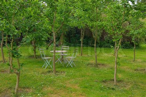 green landscape romantic nature garden
