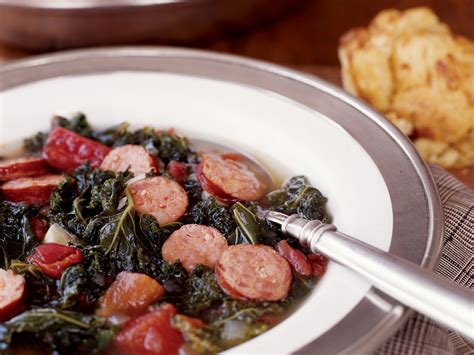 spicy kale chowder with andouille sausage recipe marcia