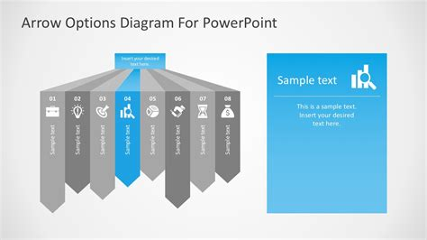 Free Arrow Options Diagram For Powerpoint Free Editable Powerpoint Templates