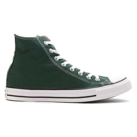 green converse sneakers lyst converse chuck high top sneaker in green for