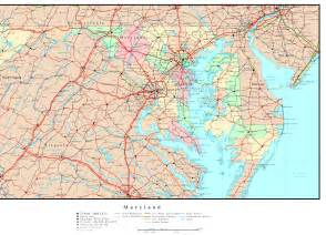 maryland delaware map maryland political map
