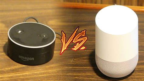 google home vs amazon echo dot side by side comparison youtube google home vs amazon echo dot comparison speed test