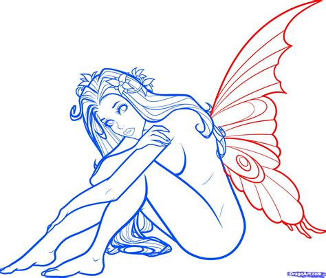 how to draw a fairy step 10 how to draw a fantasy fairy fantasy fairy girl