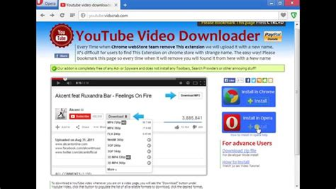 download youtube extension opera how to install youtube video downloader extension in opera