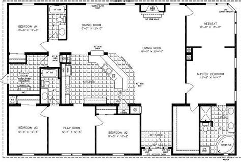 4 Bedroom Mobile Home Floor Plans by 4 Bedroom Modular Homes Floor Plans Bedroom Mobile Home