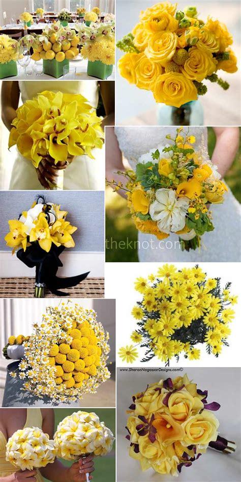 yellow wedding flower bouquet inspiration real wedding