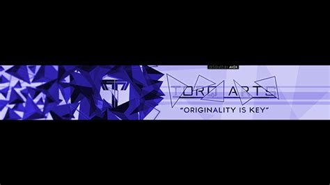 youtube banner design 2d on behance abstract 2d youtube banner on behance