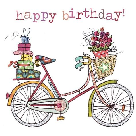 bicycle birthday card template illustrazione bicycle happy birthday referencias
