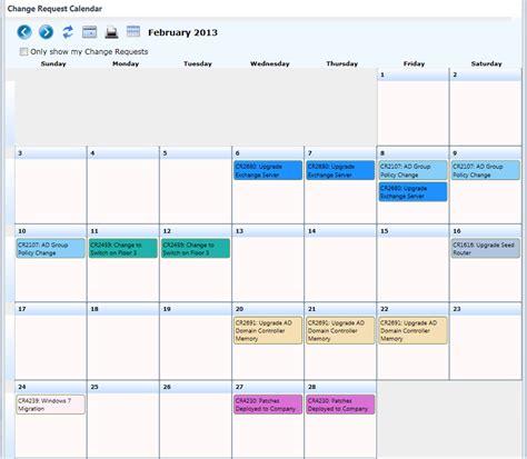 Was The Calendar Changed Cireson Knowledge Base Change Calendar App Installation