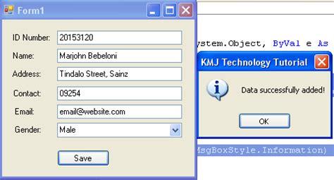 date format mysql save how to save data using vb net and mysql database