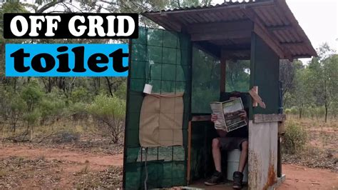 off the grid bathroom my off grid toilet long drop youtube