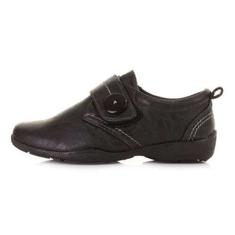 flat leather style comfortable comfy black work