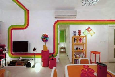 house interior decoration ideas beautiful rainbow interior house decoration ideas