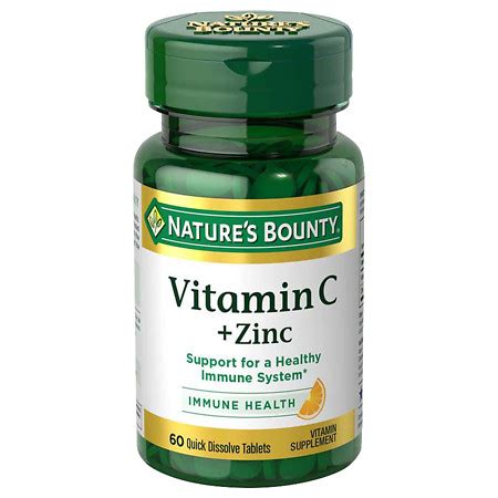 Vitamin Zinc Nature S Bounty Dissolve Vitamin C Plus Zinc