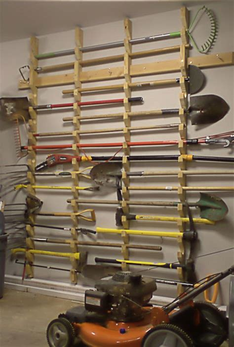 Garden Tool Wall Rack 27 Basement Storage Ideas And 8 Organizing Tips Digsdigs