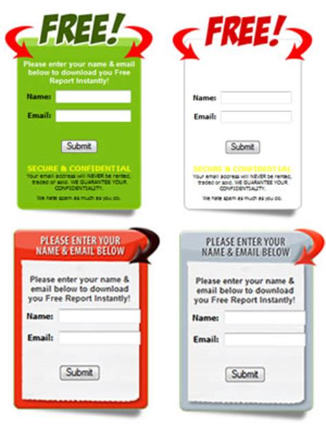 Opt In Form Templates by Formulario Template Plantilla Gratis Template Email