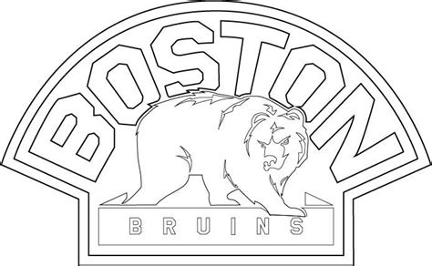 free boston bruins goalie coloring pages
